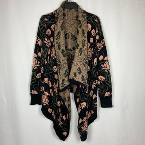 Blu Pepper Floral Open Front Cardigan